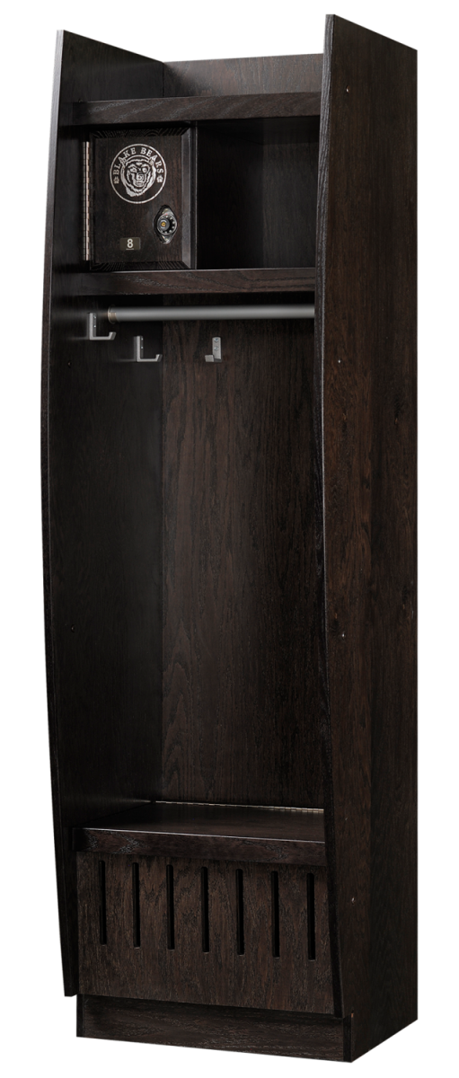 Bow Front Wood Lockers